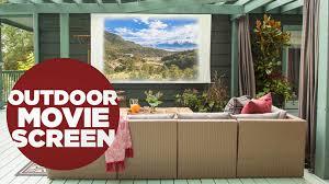 diy outdoor movie screen video hgtv