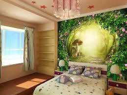 papier peint trompe l oeil pour chambre papier peint fantasie romantique chambre fille sur mesure petit