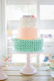 modern baby shower pink and mint green baby shower ideas decorating a modern cake for