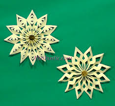 3d paper snowflakes mashustic