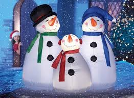 decorative light up snowman wanker for