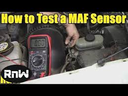 how to test a mass air flow maf sensor without a wiring
