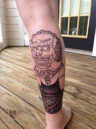 yellow foo dogs13th birthday ideas 45 menacing foo dog tattoos to protect you