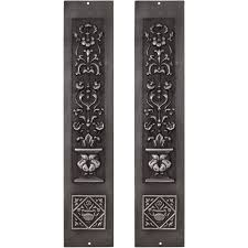 carron pair cast iron fireplace panel inserts rx080