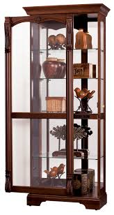 Corner Curio Cabinets Walmart by Furniture Curio Cabinet With Glass Flower Vase And Print Arm