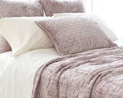 soft textured dusty plum purple washable velvet coverlet u0026 shams