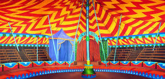 circus tent rental circus tent interior scenic stage backdrop rental theatreworld