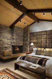 track lighting for vaulted ceilings new york interior stone walls bedroom rustic with vaulted ceilings