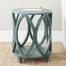 furniture cheap round accent table ideas inspired kitchen safavieh janika dark teal accent table amh6607c blue teal