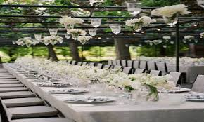 dania tables garden wedding reception table decorations indoor