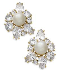 earrings new york kate spade new york gold tone imitation pearl stud