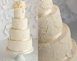 ivory wedding ivory lace wedding cake 1974671 weddbook