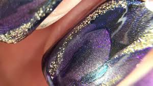 blue u0026 purple magnetic swirly nail art