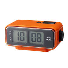 retro digital flip desk alarm clock orange amazon co uk kitchen