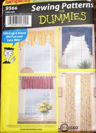 easy sewing pattern for dummies simplicity 9566 window treatments