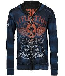 affliction american customs faded iron hoodie my style