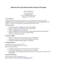 Sample Resume For Network Engineer Fresher by Sample Resume For Experienced Network Administrator Resume For