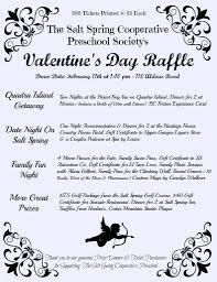 valentine raffle tickets valentine u0027s day raffle salt spring cooperative preschool