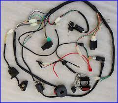 full electric wiring harness cdi coil 110cc atv quad bike buggy