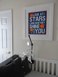 Stars Nursery Decor by Look At The Stars Blue And Orange Nursery Project Nursery