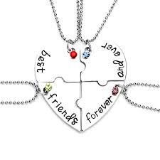 best necklace sets images 4pcs set quot best friend forever and ever quot bff friend necklace set 4 jpg