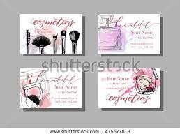 makeup artist business card vector template stock vector 475577818