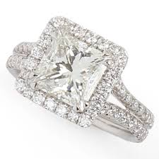 princess cut halo engagement ring 2 24ct princess cut halo ring gale diamonds chicago
