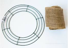 wreath supplies how to make a burlap wreath diy projects craft ideas how to s