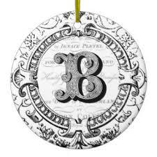 Monogram Letter B Vintage Letter B Ornaments U0026 Keepsake Ornaments Zazzle