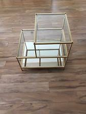 West Elm Etched Granite Coffee Table Brass Side Table Ebay