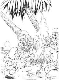 smurfs smurfette dancing hula hula coloring