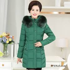 cotton coat mom thickening long fur collar winter clothes cotton