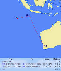 miles to go getting to christmas island and cocos islands on