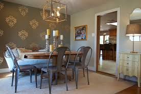 metal dining chairs dining room beach with coastal home family