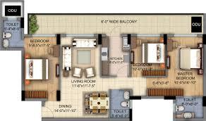 Bonanza House Floor Plan by Dlf Skycourt Realty Bonanza