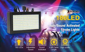 dj lights solmore 180 led strobe light for