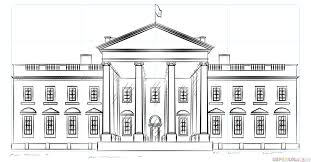 house to draw how to draw the white house step by step drawing tutorials