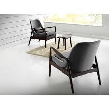Retro Accent Chair Baxton Studio Carter Mid Century Modern Retro Grey Fabric