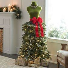 premium 5 ft dress form artificial led lighted tree pine