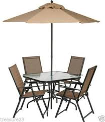 Patio Table And Umbrella Patio Table And Chairs Ebay