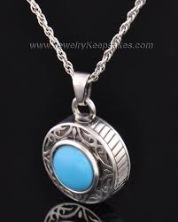 cremation jewlery sterling silver turquoise cremation urn pendants by jewelry keepsakes
