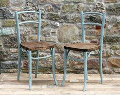 Egg Bistro Chairs Vintage Wooden Step Ladder A Rustic 1950 U0027s Hand Painted