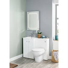 L Shaped Bathroom Vanity by Wickes L Shaped Vanity Unit And Basin Lh Wickes Co Uk