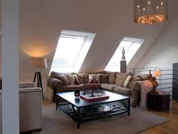 Cool Attic Agreeable Dark Brown Flooring Carpet Low Ceiling Attic Living Room