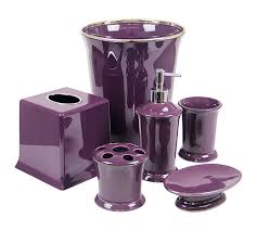 Matching Bathroom Accessories Sets Interesting Fine Purple Bathroom Accessories Matching Bathroom