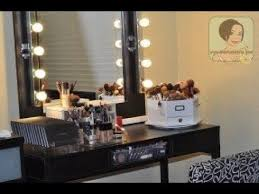 Makeup Vanity Table With Lights And Mirror Makeup Vanity Set With Lighted Mirror Youtube