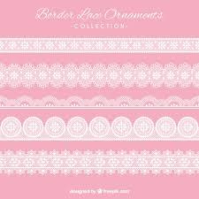 border lace ornaments set vector free