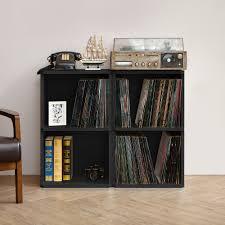 Vinyl Record Bookcase Vinyl Record Storage 2 Cube In Black Way Basics