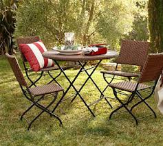 Pottery Barn Wicker Pottery Barn Palmetto All Weather Wicker Folding Dining Set 10 U2026
