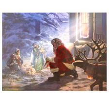 santa kneeling at the manger santa home décor items seasonal home decor gifts bronner s